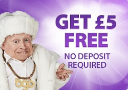 £5 FREE No Deposit at bgo
