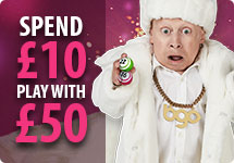Spend 310 and play with £50 at bgo