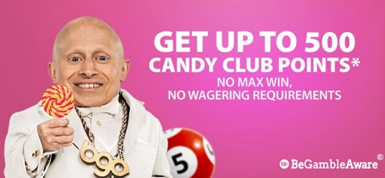 Candy Club Points at Bgo Bingo
