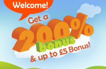 200% welcome bonus at Bingostreet