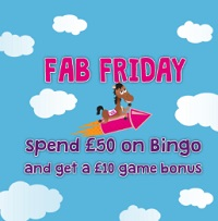 £10 games bonus at Bucky Bingo
