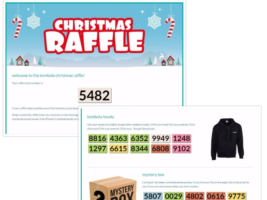 Check Tombola Christmas Raffle Tickets