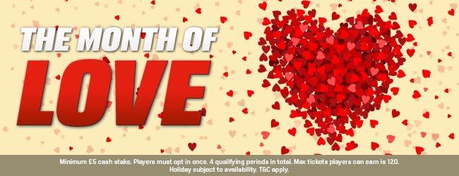 Month of Love at Coral Bingo