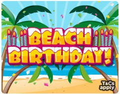 Beach Birthday promotional Photo