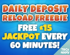 Daily Reload Freebie at Costa Bingo