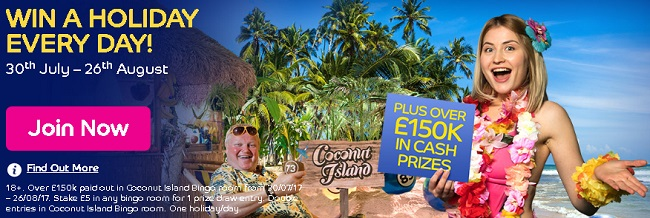 Win a Holiday at Gala Bingo