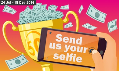 Share your selfie for a chance to win