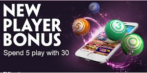 Spend £5, Play with £30 at Paddy Power Bingo