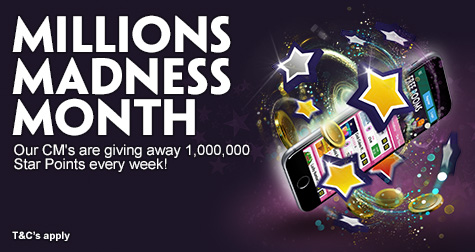 Millions of Star Points Giveaway at Paddy Power Bingo