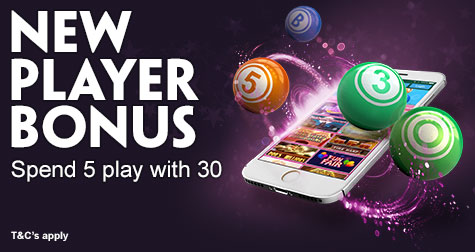 Spend £5 Play with £30 at Paddy Power Bingo
