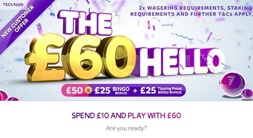 The £60 Hello at Sky Bingo