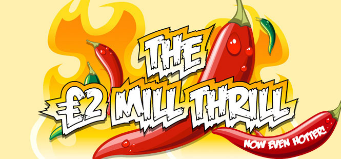 £2 Mill Thrill on Saturday at Tasty Bingo