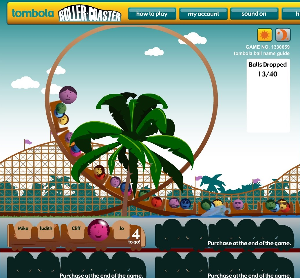 Tombola Roller-Coaster Game