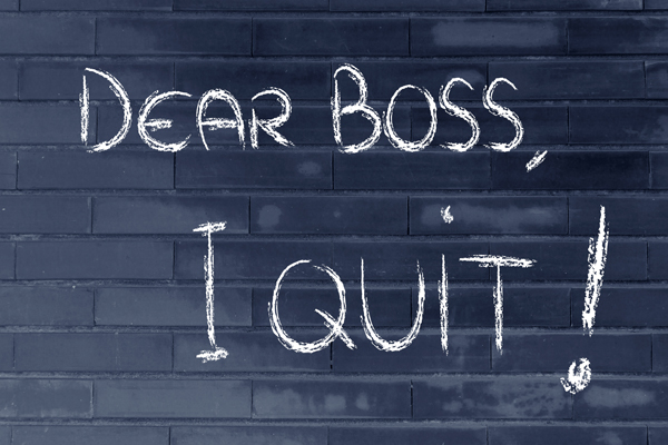Resignation - dear boss I quit