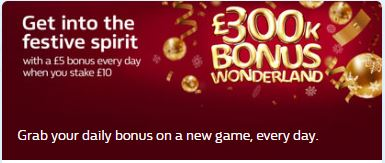 William Hill Bingo Christmas Bonus