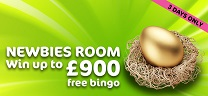 Win up to £900 in the Newbie's Room at Wink Bingo