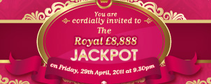 £8,888 Royal Jackpot game with 888 Ladies