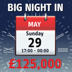 Win £125k with Bucky Bingo's Big Night In!!