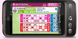Mecca Bingo on the HTC Mobile Phone