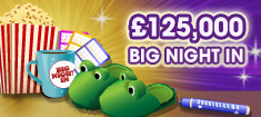 Join in the Big Night In and Win upto £125,000