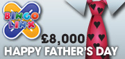 Play Ruby Bingo's £8k Fathers day prize!