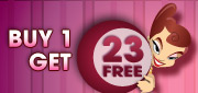 Buy 1 Bingo Card and get 23 FREE!!