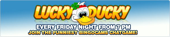 Join Bingo Cams every Friday for Lucky Ducky