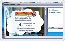 Be lucky and play the Bouncing Bingo Bonus Game