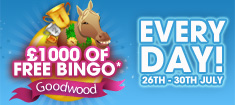 £1,000 of Free Bingo Every day with William Hill Bingo