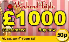Play Butlers Bingo Weekend Triple £1000