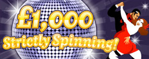 Win £1000 with the Strictky Spin game