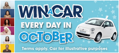 Win a Car everyday with William Hill