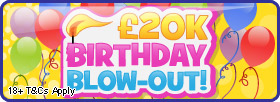 Win £20,000 in the birthday bingo blowout