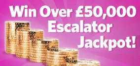 Win over £50,000 with the Mecca Bingo Escalator Jackpot