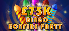 Play Bingo on Bonfire Night and Win £75,000