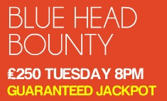 Tuesday's Jackpot Game is blue Head Bounty